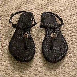 Tory Burch Black Thong Sandal - only worn twice